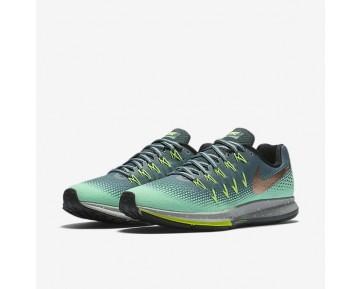 Chaussure Nike Air Zoom Pegasus 33 Shield Pour Femme Running Vert Céladon/Vert Phosphorescent/Vert Ombre/Bronze Rouge Métallique_NO. 849567-300