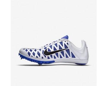 Chaussure Nike Zoom Maxcat 4 Pour Femme Running Blanc/Bleu Coureur/Noir_NO. 549150-100