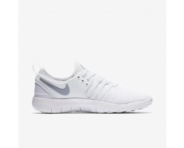 Chaussure Nike Free Tr7 Pour Femme Fitness Et Training Blanc/Argent Métallique_NO. 904651-100