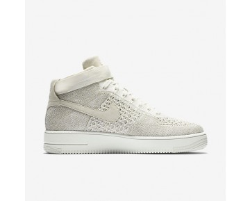 Chaussure Nike Air Force 1 Ultra Flyknit Pour Homme Lifestyle Voile/Gris Pâle/Voile_NO. 817420-101
