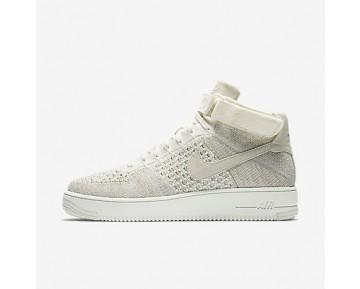 Chaussure Nike Air Force 1 Ultra Flyknit Pour Homme Lifestyle Voile/Gris Pâle/Voile_NO. 817420-101
