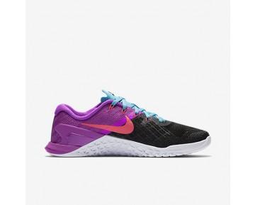 Chaussure Nike Metcon 3 Pour Femme Fitness Et Training Noir/Hyper Violet/Bleu Chlorine/Rose Coureur_NO. 849807-002