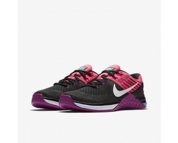 Chaussure Nike Metcon Dsx Flyknit Pour Femme Fitness Et Training Noir/Rose Coureur/Hyper Violet/Blanc_NO. 849809-006
