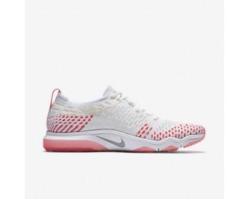 Chaussure Nike Zoom Fearless Flyknit Pour Femme Fitness Et Training Blanc/Rose Coureur/Melon Pâle/Gris Loup_NO. 850426-102