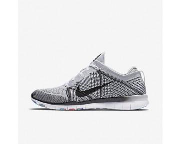 Chaussure Nike Free Tr 5 Flyknit Pour Femme Fitness Et Training Blanc/Platine Pur/Hyper Violet/Noir_NO. 718785-100