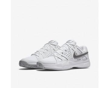 Chaussure Nike Court Air Vapor Advantage Pour Femme Tennis Blanc/Platine Pur/Argent Métallique_NO. 599364-100
