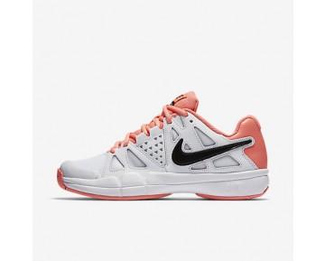 Chaussure Nike Court Air Vapor Advantage Pour Femme Tennis Blanc/Rouge Lave Brillant/Noir_NO. 599364-103