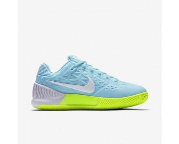 Chaussure Nike Court Zoom Cage 2 Clay Pour Femme Tennis Bleu Calme/Volt/Blanc_NO. 844963-401