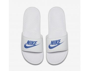 Chaussure Nike Benassi Pour Homme Lifestyle Blanc/Blanc/Royal Éclatant_NO. 343880-102