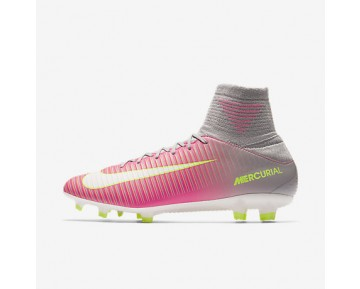Chaussure Nike Mercurial Veloce Iii Dynamic Fit Fg Pour Femme Football Hyper Rose/Gris Loup/Aigre/Blanc_NO. 897800-610