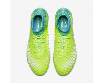 Chaussure Nike Magista Obra Ii Fg Pour Femme Football Volt/Jaune Pâle Électrique/Bleu Chlorine/Blanc_NO. 844205-717