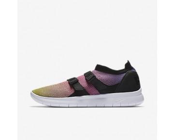 Chaussure Nike Air Sock Racer Premium Flyknit Pour Homme Lifestyle Jaune Strike/Rose Coureur/Noir/Blanc_NO. 898021-700