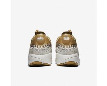 Chaussure Nike Air Footscape Woven Chukka Qs Pour Homme Lifestyle Doré Mat/Blanc Sommet/Brun Clair_NO. 913929-700