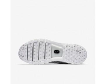 Chaussure Nike Air Max More Pour Homme Lifestyle Blanc/Noir/Argent Métallique_NO. 898013-100