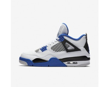 Chaussure Nike Air Jordan 4 Retro Pour Homme Lifestyle Blanc/Noir/Bleu Électrique_NO. 308497-117