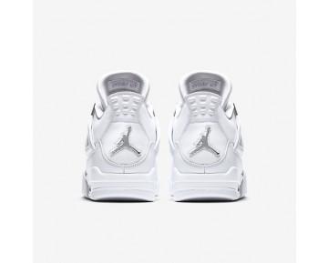 Chaussure Nike Air Jordan 4 Retro Pour Homme Lifestyle Blanc/Platine Pur/Blanc/Argent Métallique_NO. 308497-100