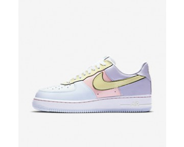Chaussure Nike Air Force 1 Low Retro Pour Homme Lifestyle Titane/Rose Tempête/Vert Citron Glacé_NO. 845053-500