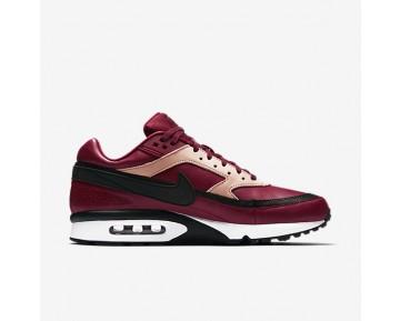 Chaussure Nike Air Max Bw Premium Pour Homme Lifestyle Rouge Équipe/Brun Vachette/Blanc/Noir_NO. 819523-600
