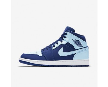 Chaussure Nike Air Jordan 1 Mid Pour Homme Lifestyle Royal Équipe/Blanc/Bleu Glacé_NO. 554724-400