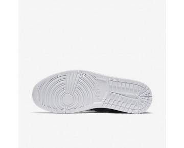 Chaussure Nike Air Jordan 1 Mid Pour Homme Lifestyle Marine Arsenal/Blanc/Vert Citron Électrique_NO. 554724-421