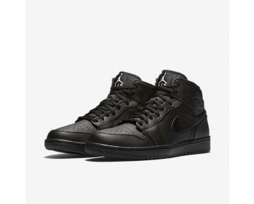 Chaussure Nike Air Jordan 1 Mid Pour Homme Lifestyle Noir/Blanc_NO. 554724-034