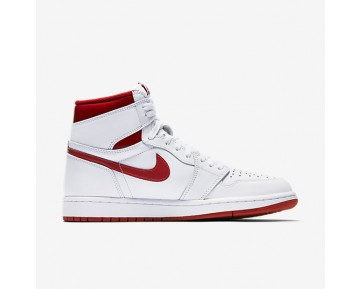 Chaussure Nike Air Jordan 1 Retro High Og Pour Homme Lifestyle Blanc/Rouge Intense_NO. 555088-103