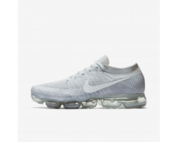 Chaussure Nike Air Vapormax Flyknit Pour Homme Lifestyle Platine Pur/Gris Loup/Blanc_NO. 849558-004