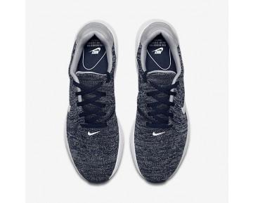 Chaussure Nike Air Max Modern Flyknit Pour Homme Lifestyle Bleu Marine Collège/Gris Loup/Blanc_NO. 876066-400
