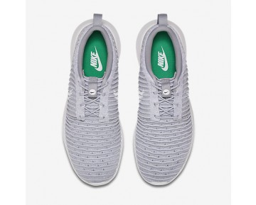 Chaussure Nike Roshe Two Flyknit Pour Homme Lifestyle Gris Loup/Vert Stade/Blanc_NO. 844833-008