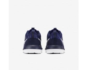 Chaussure Nike Roshe Two Flyknit Pour Homme Lifestyle Bleu Marine Collège/Bleu Souverain/Blanc_NO. 844833-402