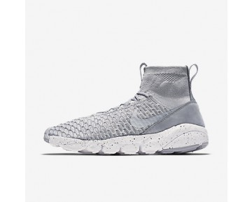 Chaussure Nike Air Footscape Magista Flyknit Pour Homme Lifestyle Gris Loup/Gris Froid/Hyper Orange/Gris Loup_NO. 816560-005