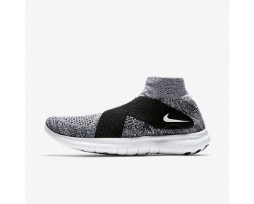 Chaussure Nike Free Rn Motion Flyknit 2017 Pour Homme Running Platine Pur/Noir/Gris Loup/Blanc_NO. 880845-001