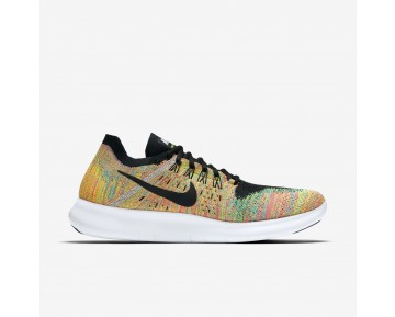 Chaussure Nike Free Rn Flyknit 2017 Pour Homme Running Multicolore/Bleu Lagon/Rouge Cocktail/Noir_NO. 880843-005