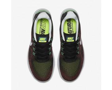 Chaussure Nike Free Rn 2017 Pour Homme Running Noir/Rouge Cocktail/Bleu Chlorine/Noir_NO. 880839-005