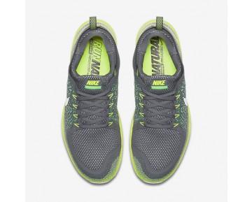 Chaussure Nike Free Rn Distance 2 Pour Homme Running Discret/Gris Foncé/Vert Electro/Blanc Cassé_NO. 863775-008