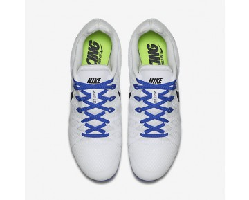 Chaussure Nike Zoom Rival M 8 Pour Homme Running Blanc/Bleu Coureur/Noir_NO. 806555-100