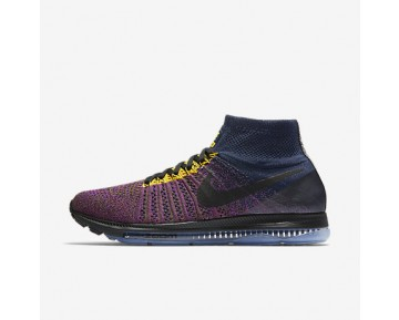 Chaussure Nike Lab Air Zoom All Out Flyknit Pour Homme Running Bleu Marine Collège/Mauve Vif/Flak Olive/Noir_NO. 881679-400