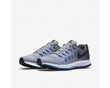 Chaussure Nike Air Zoom Pegasus 33 Pour Homme Running Gris Loup/Gris Foncé/Bleu Photo/Noir_NO. 831352-004