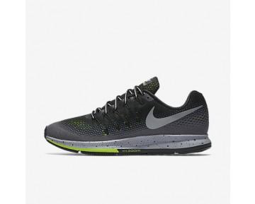 Chaussure Nike Air Zoom Pegasus 33 Shield Pour Homme Running Noir/Gris Foncé/Discret/Argent Métallique_NO. 849564-001