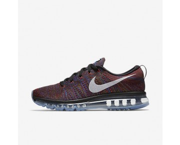 wholesale dealer 4335f 688d3 Chaussure Nike Flyknit Air Max Pour Homme Running Noir/Bleu Moyen/Rouge  Équipe/
