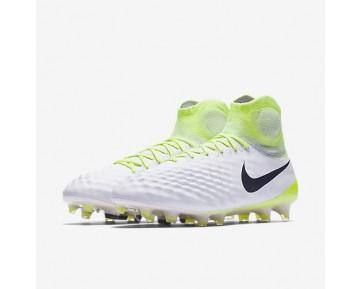 Chaussure Nike Magista Obra Ii Fg Pour Homme Football Blanc/Volt/Platine Pur/Noir_NO. 844595-109