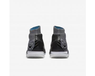Chaussure Nike Hypervenomx Proximo Ii Dynamic Fit Ic Pour Homme Football Gris Loup/Bleu Chlorine/Noir_NO. 852577-004