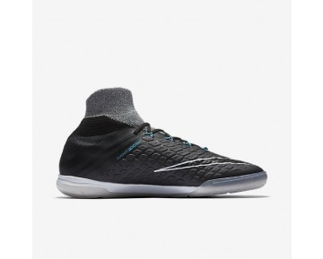 Chaussure Nike Hypervenomx Proximo Ii Dynamic Fit Ic Pour Homme Football Gris Loup/Bleu Chlorine/Noir_NO. 852577-004
