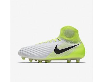 Chaussure Nike Magista Obra Ii Ag-Pro Pour Homme Football Blanc/Volt/Platine Pur/Noir_NO. 844594-109