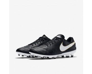 Chaussure Nike Tiempo Genio Ii Leather Fg Pour Homme Football Noir/Blanc_NO. 819213-010