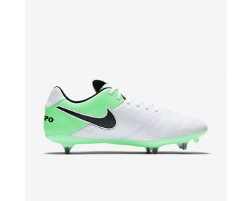 Chaussure Nike Tiempo Genio Ii Leather Sg Pour Homme Football Blanc/Vert Electro/Noir_NO. 819715-103