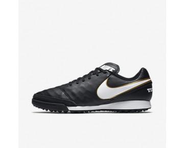 Chaussure Nike Tiempox Genio Ii Leather Tf Pour Homme Football Noir/Blanc_NO. 819216-010