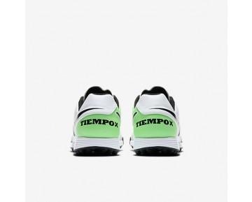 Chaussure Nike Tiempox Genio Ii Leather Tf Pour Homme Football Blanc/Vert Electro/Noir_NO. 819216-103