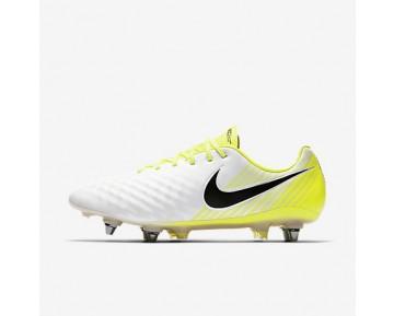 Chaussure Nike Magista Opus Ii Sg-Pro Pour Homme Football Blanc/Volt/Gris Loup/Noir_NO. 844597-107
