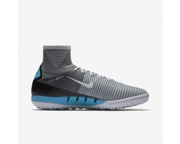 Chaussure Nike Mercurialx Proximo Ii Tf Pour Homme Football Gris Loup/Platine Pur/Bleu Laser/Blanc_NO. 831977-010